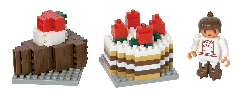 Nanoblock chocolate cake set (japan import)