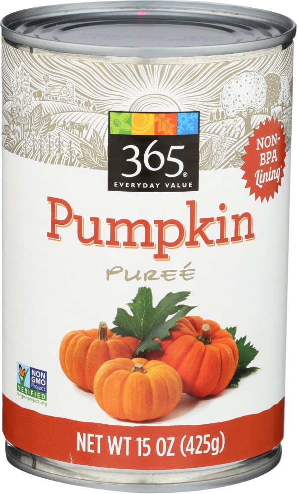 365 Everyday Value Canned Pumpkin, 15 Ounce