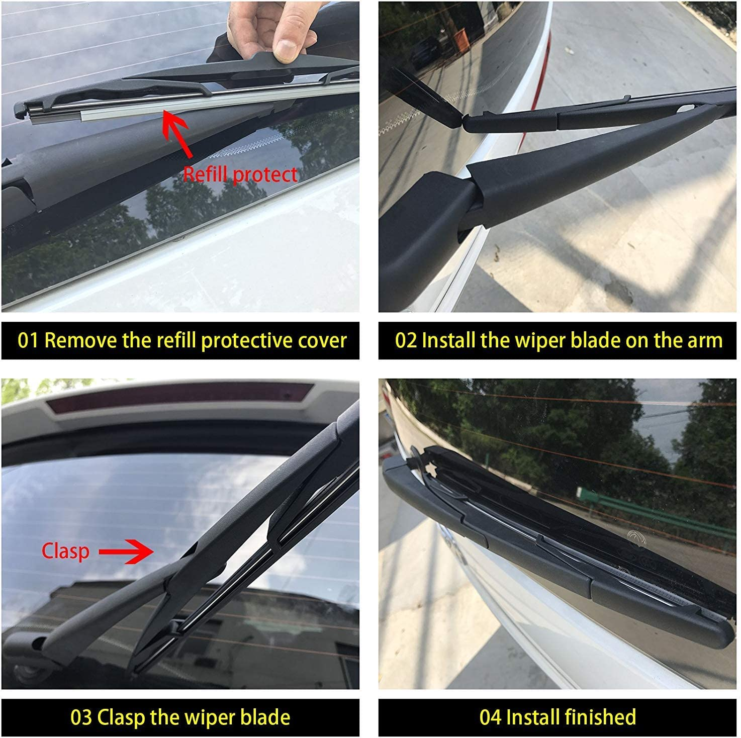Auto Rear Back Wiper Blade Fit Jeep Liberty Patriot Compass Cherokee Caliber 15/""