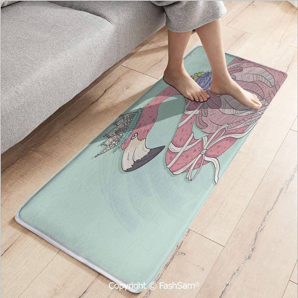 Amazon.com: 3 Piece Fashion Flannel Door Mat Carpet Cute ...