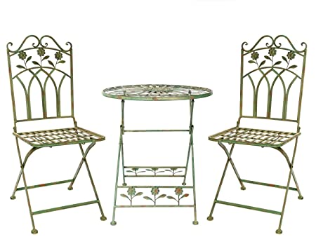 Set gartenset iron garden furniture garden green antique garden furniture  iron - Set Gartenset Iron Garden Furniture Garden Green Antique Garden