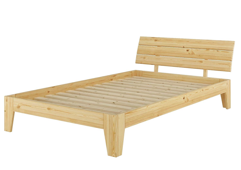 Erst-Holz Solido letto in pino massello Eco 120x200 anche per ragazzi con assi di legno 60.62-12