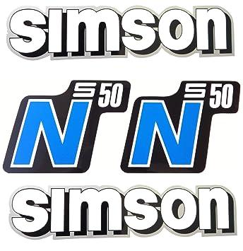 Aufkleber Sticker Set Simson W S S50 N Blau Alte Form