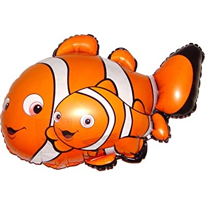 SPACE PET Anti-Gravity Hovering Flying Floating CLOWNFISH & BABY 27 inch Toy Pet Balloon Party Favor: Toys & Games
