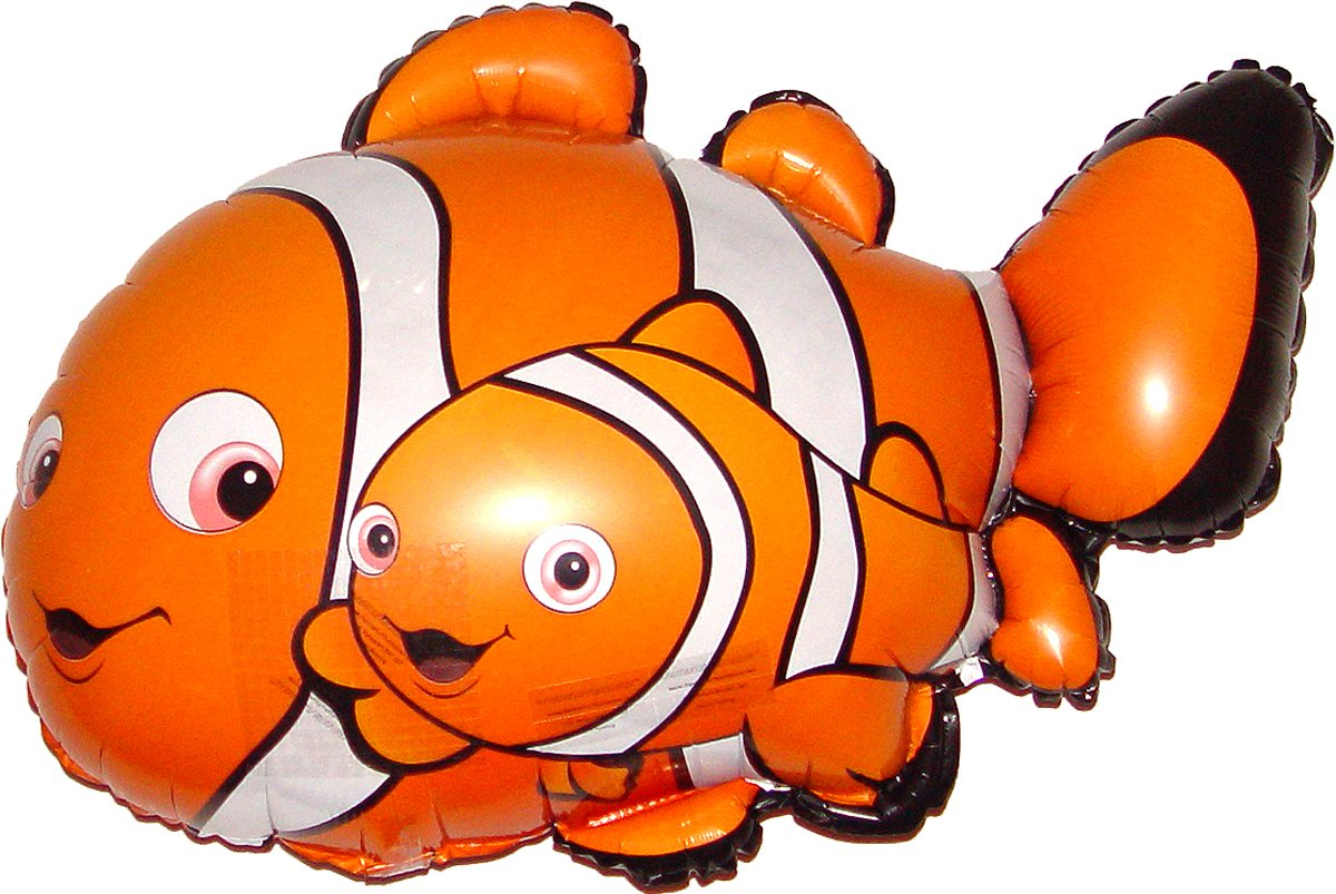 """SPACE PET Award Winning 27"""" CLOWNFISH & BABY Anti-Gravity Balloons Hover & Drift in Mid-Air with NO STRINGS ATTACHED! FUN for all Ages! Includes Weights for Easy Height Control. The HIT of the PARTY!"""
