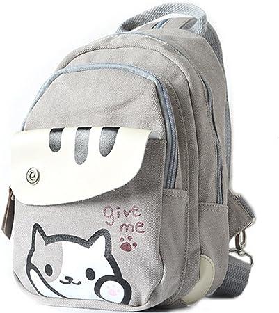 Neko atsume Cat Lindo Anime Multifuncional hombro Bolsa Mochila bolsa de mensajero