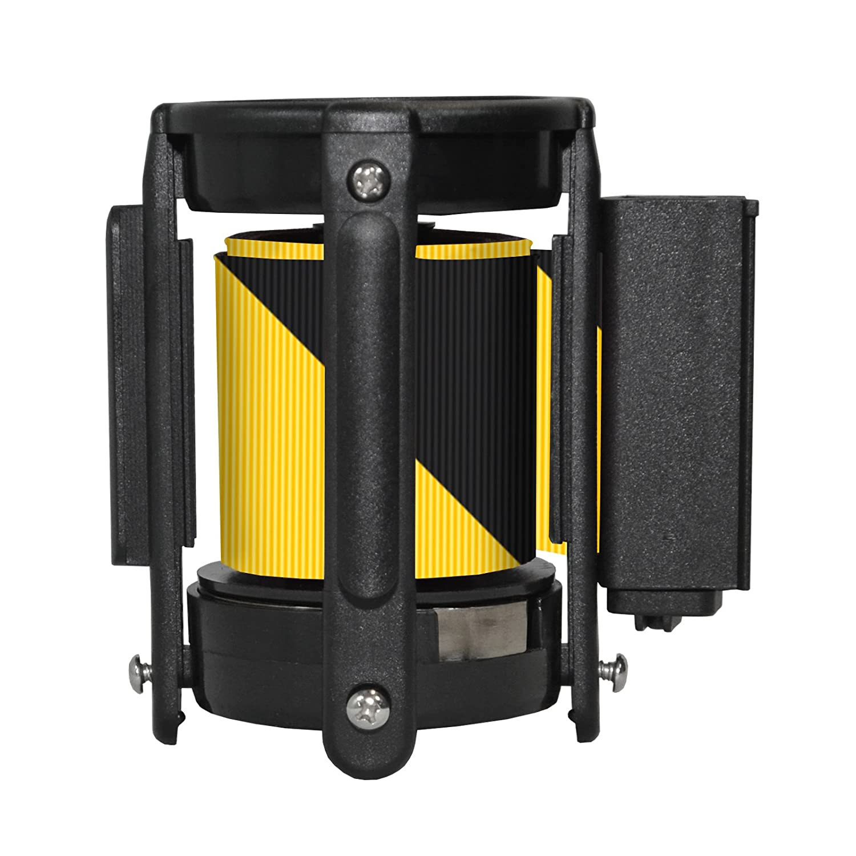 13, Black//Yellow Replacement Belt Head Cassette for Retractable Belt Stanchion