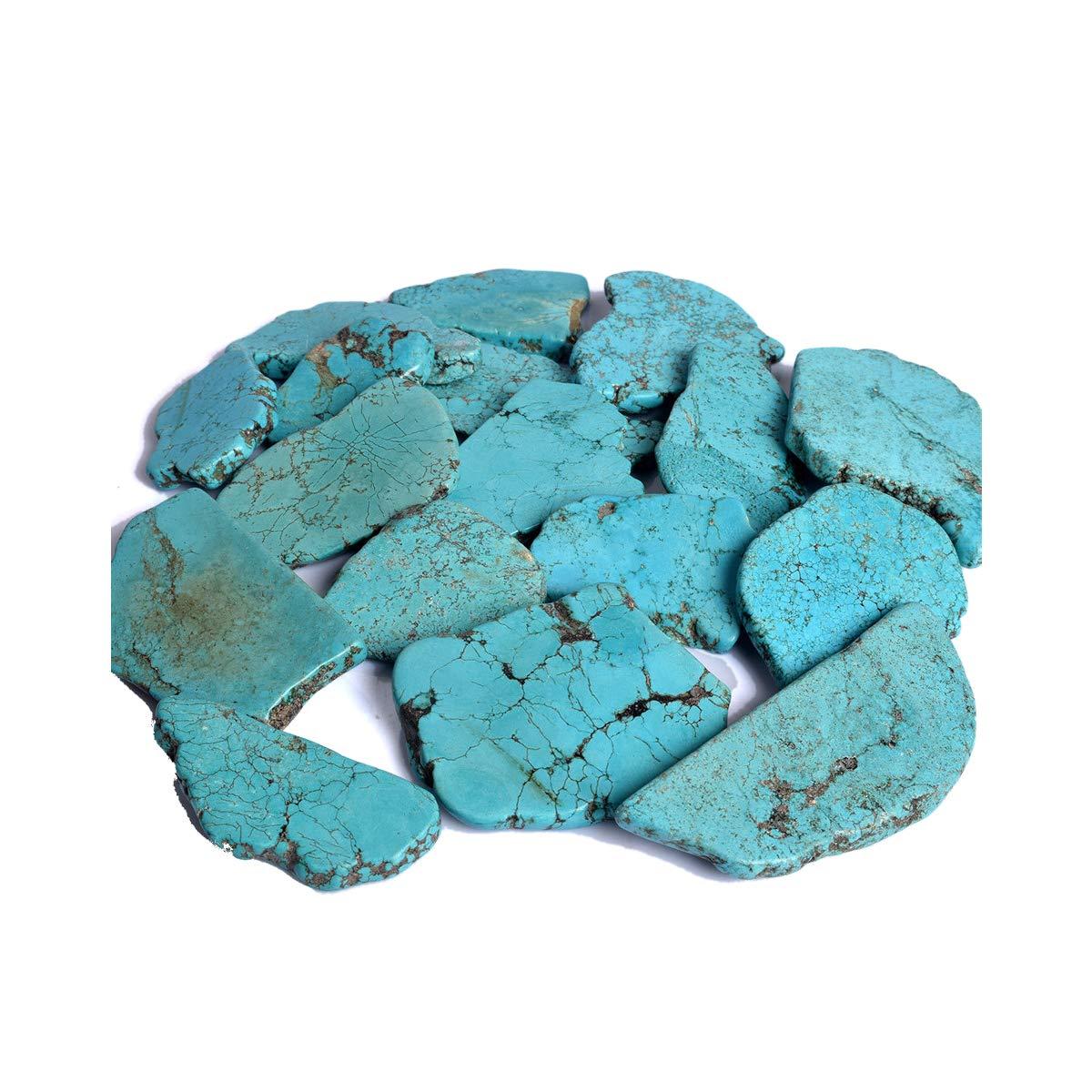 Natural Blue Turquoise Slab 300-400 Ct. Arizona Blue Turquoise Slab Raw Rough Loose Gemstone Per Piece hamlet e commerce AB-111