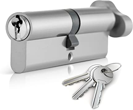 Yale Locks X6 Kitemarked Euro Double Profile Cylinder 35 x 45 Nickle Plated Visi 90 mm