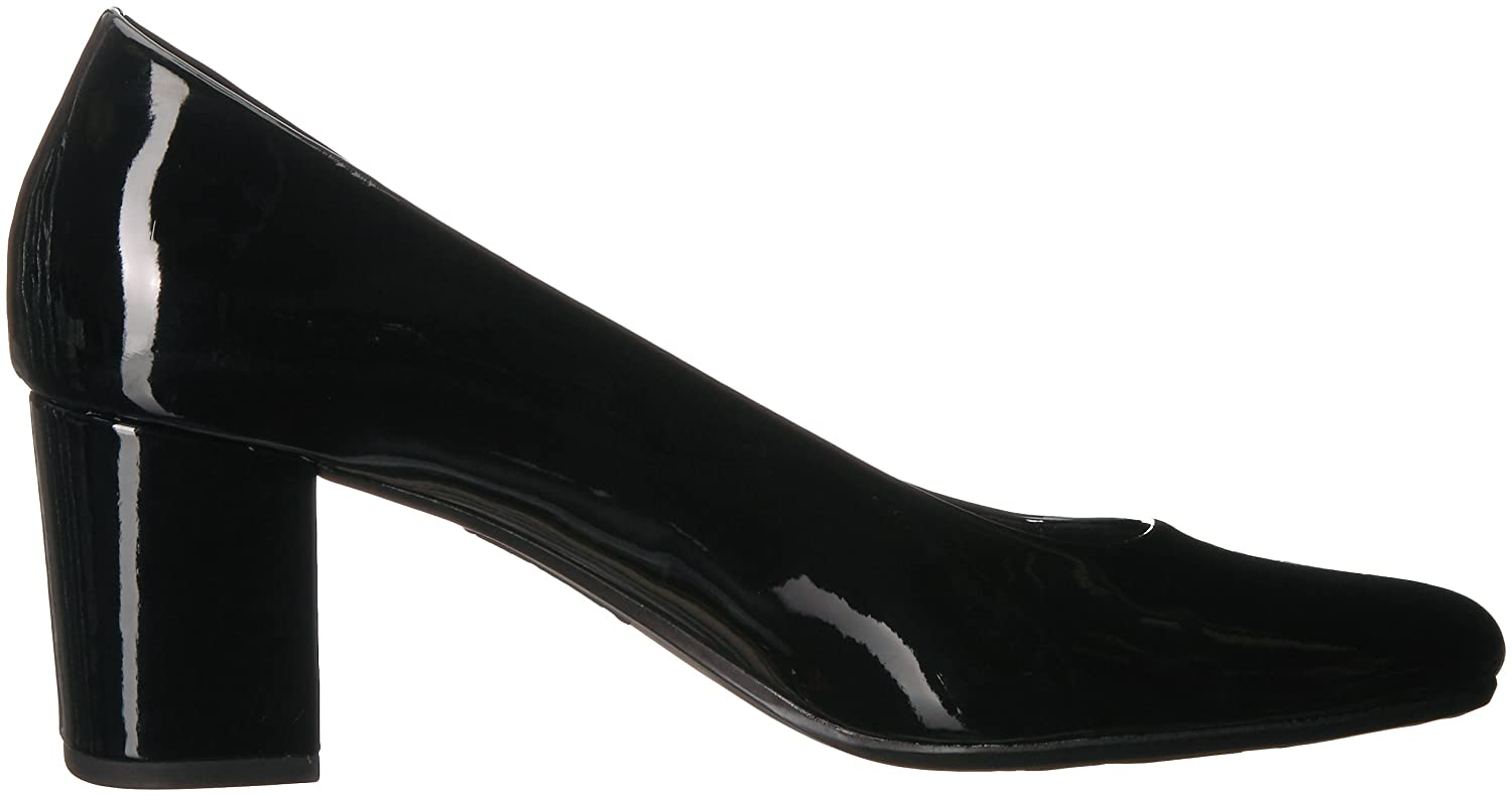 Easy Street Women's Proper Pump B077ZMJK6Y 6 2W US|Black Patent