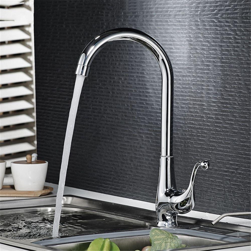 ANNTYE Waschtischarmatur Bad Mischbatterie Badarmatur Waschbecken Warmes und kaltes Wasser Messing Drehbar Badezimmer Waschtischmischer