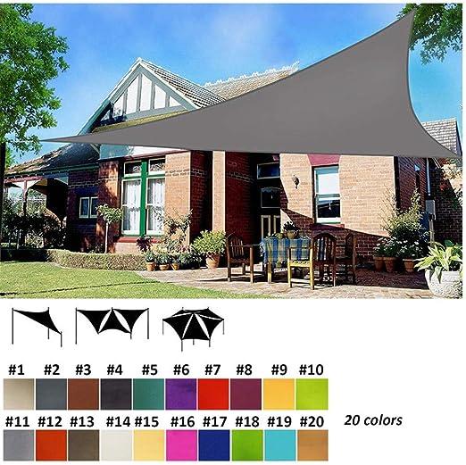 Nevy - Triangular Impermeable Toldo Vela de Sombra, Vela Solar para Patio, Exteriores, Jardín, Protección UV 160gsm 20 Colores (Color : #2, Size : 2.5x2.5x2.5m): Amazon.es: Jardín