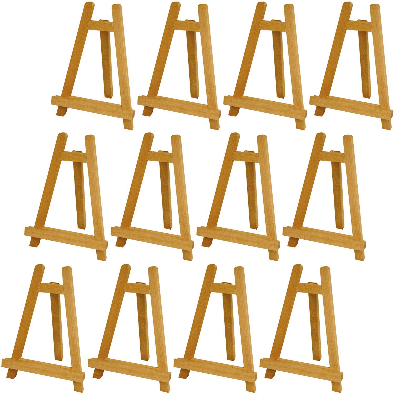 U.S. Art Supply Carmel 10-1/2 inch Tall Tabletop Wood Display Artist A-Frame Easel (12-Easels)