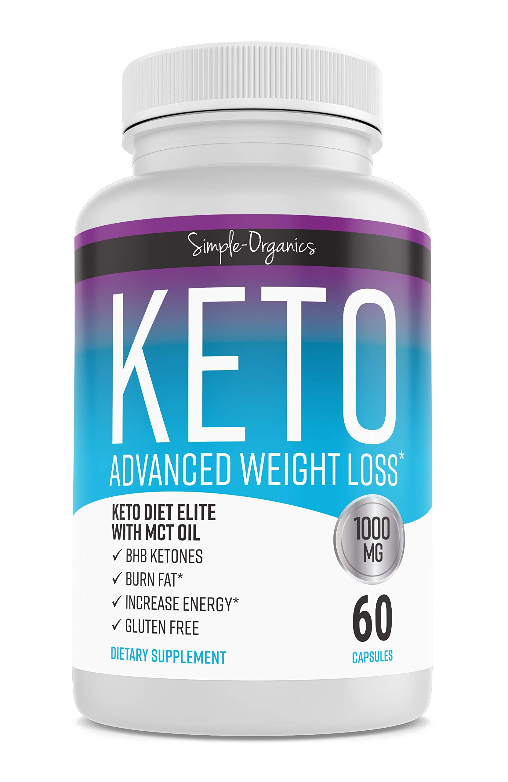 Keto Diet Pills 1000 Mg- Advanced Weight Loss Supplements- Burn Fat Instead of Carbs- 30 Day Supply by Simple-Organics