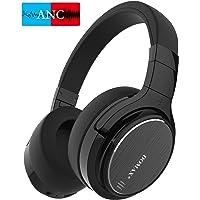 Noise Cancelling Kopfhörer, Bluetooth Kopfhörer bis 48 Std. Abspielzeit, DOMAX M1, Noise Cancelling Kopfhoerer Komfortable, HiFi Stereo Over Ear Kopfhörer