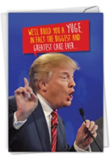 graphic regarding Donald Trump Birthday Card Printable named : Trump Huuuge - Humorous President Trump Birthday