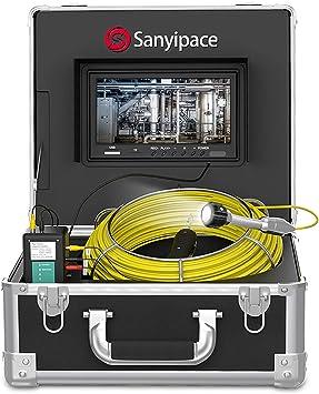 Sewer Camera 17MM LED 7in LCD Monitor 30M Drain Pipe HD 1000TVL Borescope 100-240v European Standard