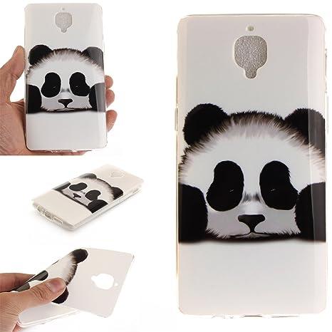 Guran® Silicona Funda Carcasa para OnePlus 3 / OnePlus 3T Smartphone Case Bumper Shock TPU Cover-Panda