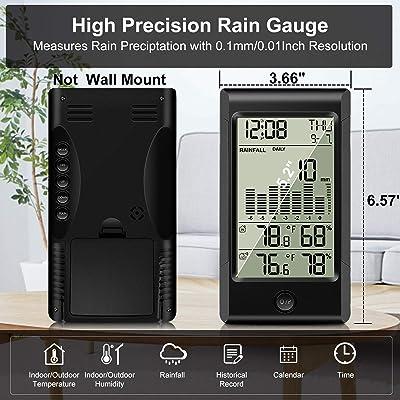 ghdonat.com Patio, Lawn & Garden Rain Gauges Geevon Wireless Rain ...
