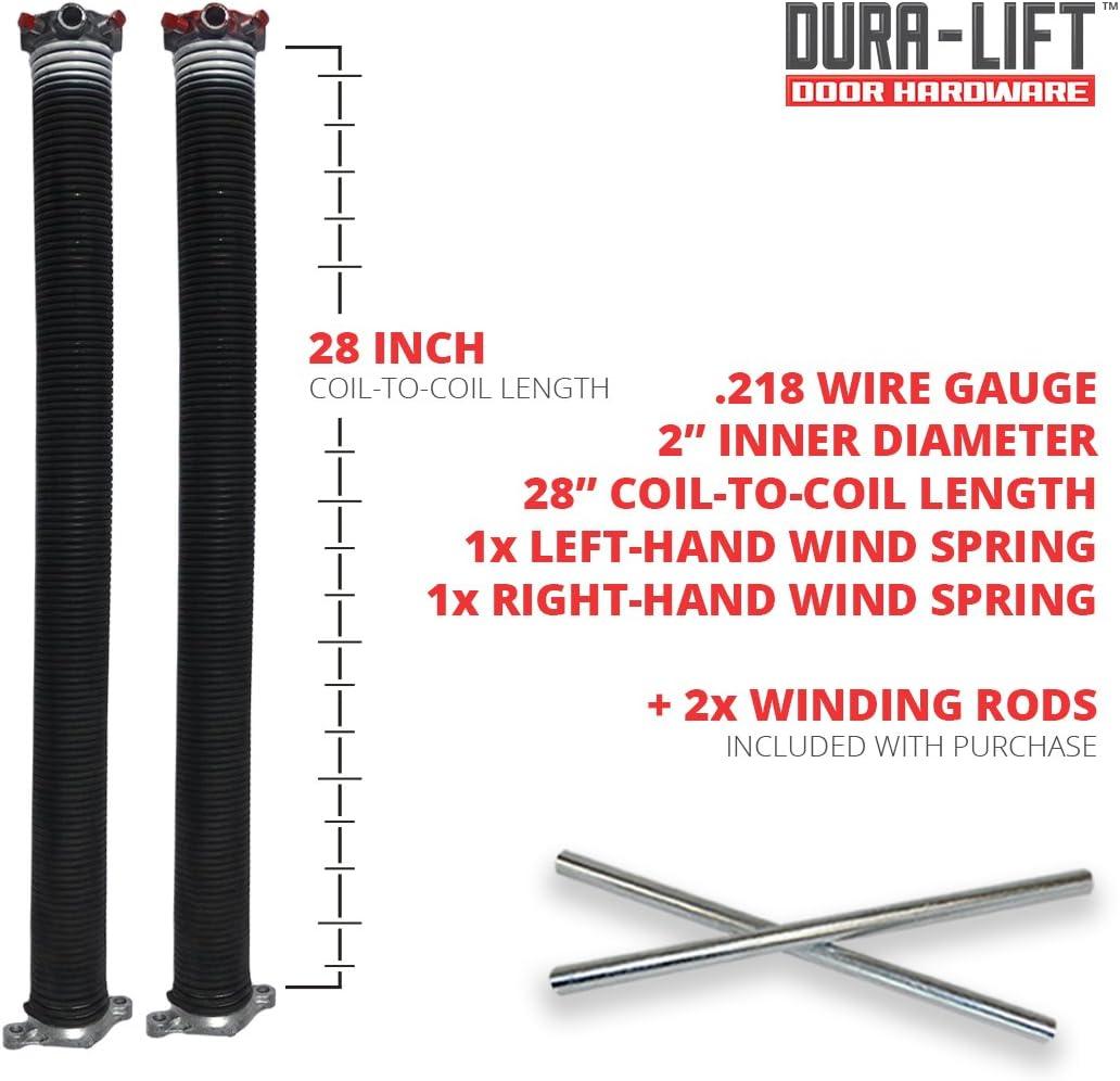 0.234 Wire Size Right Wound 31 Length 1.75 Inside Diameter GDN Garage Door Torsion Spring