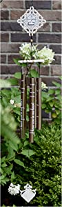 Inside Our Hearts Sympathy Gift Ornate Angel Wind Chime to Send for Funeral Or Memorial When Someone Passes Away Loss of a Loved One