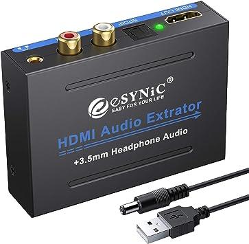 View HD HDMI to HDMI RCA L R Audio Extractor Converter 1080P 3D SPDIF
