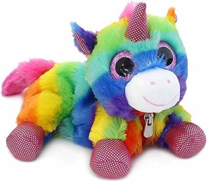 Unicorn - Estuche de peluche arcoíris – Color: arcoíris: Amazon.es: Oficina y papelería