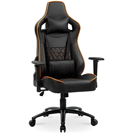 Gaming Chair High Back Racing Office Executive Ergonomic Adjustable Swivel Task Chair Pu Leather Computer Chair Desk Chair With Headrest Lumbar