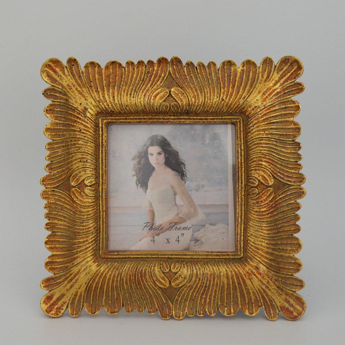 Amazon.de: Giftgarden Bilderrahmen gold Vintage quadratisch klein ...