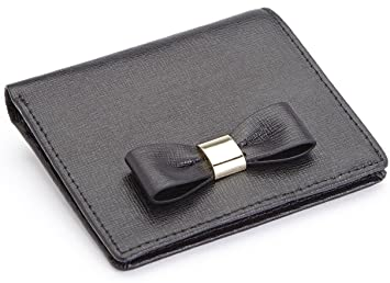 52c5649255 Royce Leather RFID Blocking Mini Bow Wallet in Saffiano Leather, Black