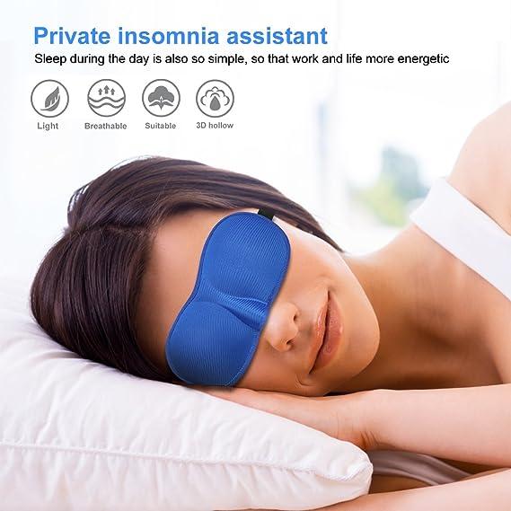 Para Dormir, Suave Venda Para Ojos Para Viajar, Anti-Luz Totalmente Opaco Cómoda Máscara Del Sueño Para Relajación Profunda El Mejor Protector, ...