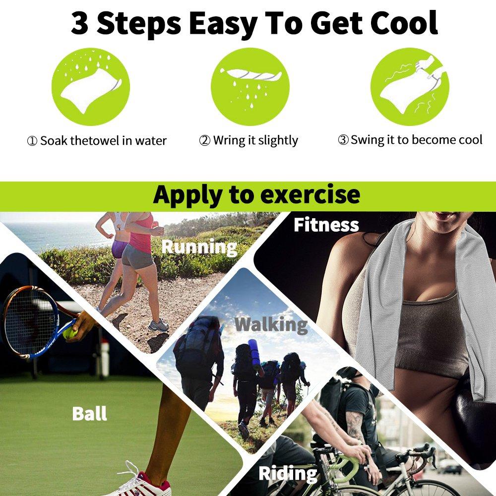 gprova refrigeración toalla para deporte, Cool bolos Fitness Yoga toallas, microfibra instantánea refrigeración toalla perfecto deporte toalla - Toalla de ...