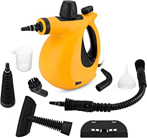 SamFabulous Handheld Pressurized Steam Cleaner, Steam Cleaner with 9-Piece Accessory Set Multi-Purpose and Multi-Surface All Natural, Chemical-Free Steam Cleaning for Home, Kitchen, Auto, Patio