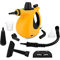 SamFabulous Chemical for Home, Kitchen, Auto, Patio Handheld Pressurized, Steam Cleaner with 9-Piece Accessory Set, New Orange