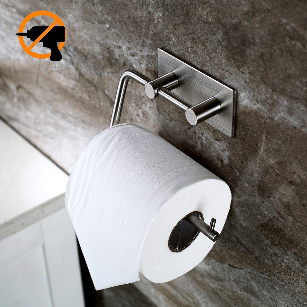 Kitlit Edelstahl Toilettenpapierhalter Klopapierhalter Selbstklebend Ohne  Bohren WC Bad Rollenhalter Product Image