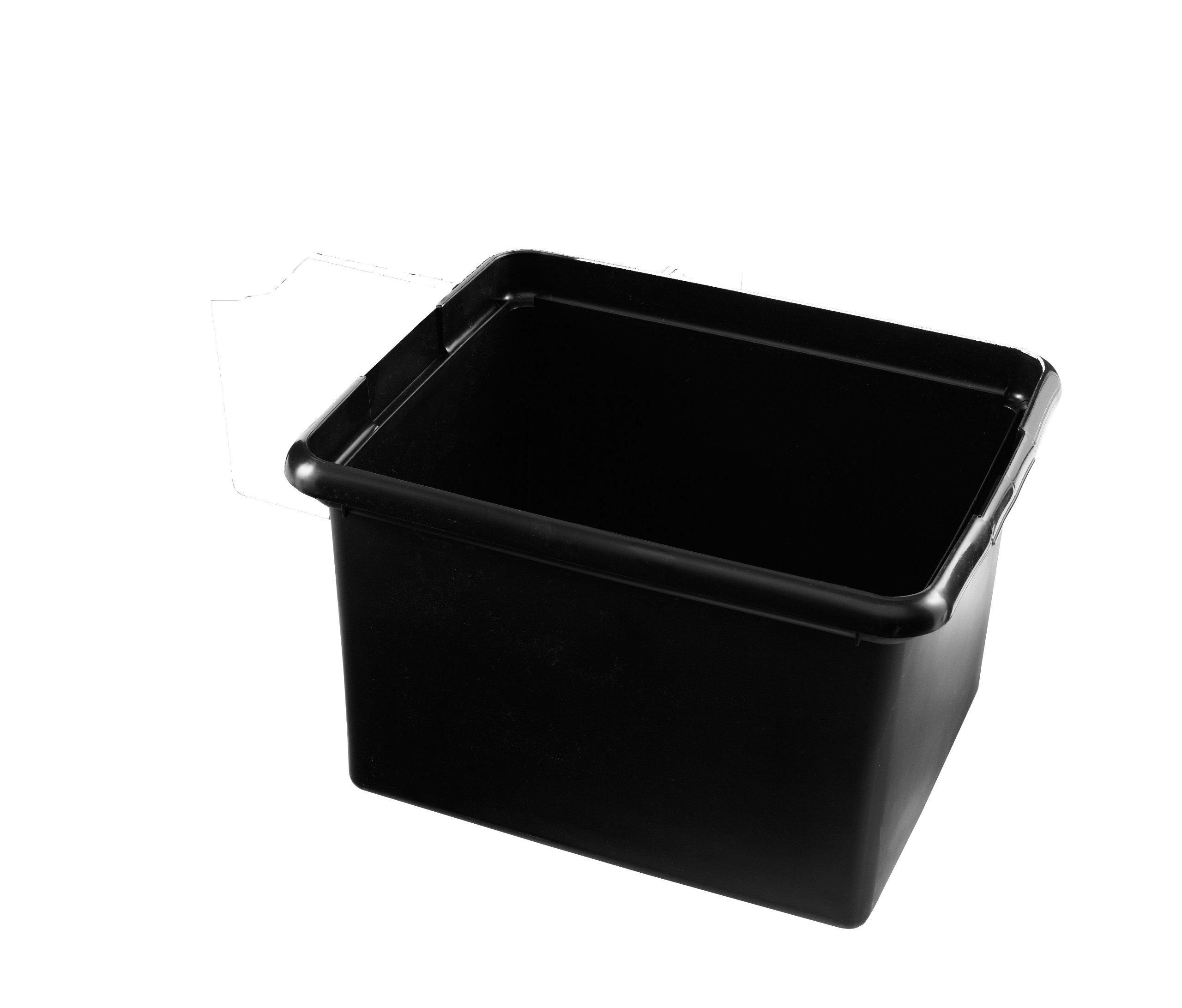 Rubbermaid Commercial Executive Series FG9T8400BLA 30 Quart Cleaning Cart Bin, Black