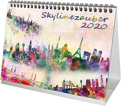 Skylinezauber – Calendario de mesa 2020, DIN A5, diseño de ...