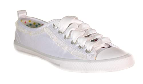 Scarpe Sportive Bambina Bianche Tela Lacci 62080  Amazon.it  Scarpe e borse 7ba8d45af23