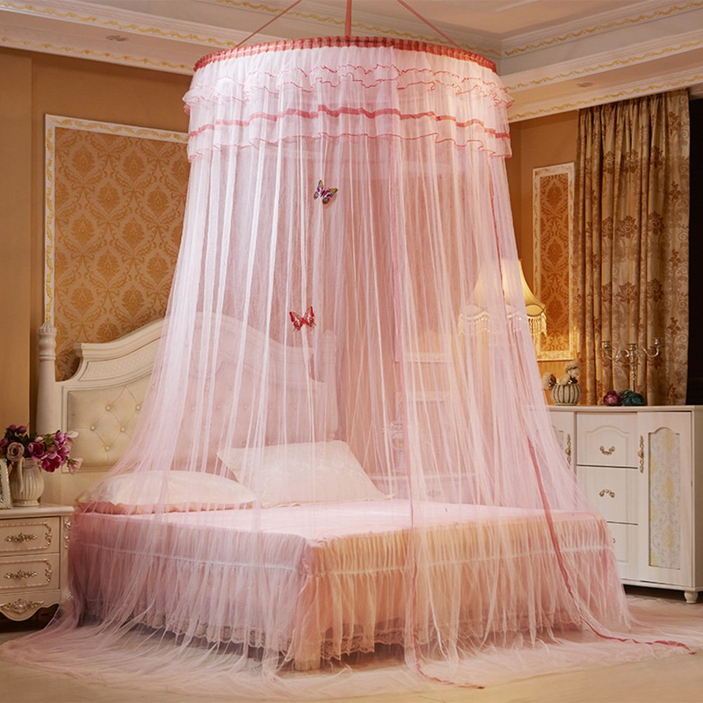 Dome suspended ceiling gauze mosquito net, Double Residential Landing Court bed canopy-O Full-size