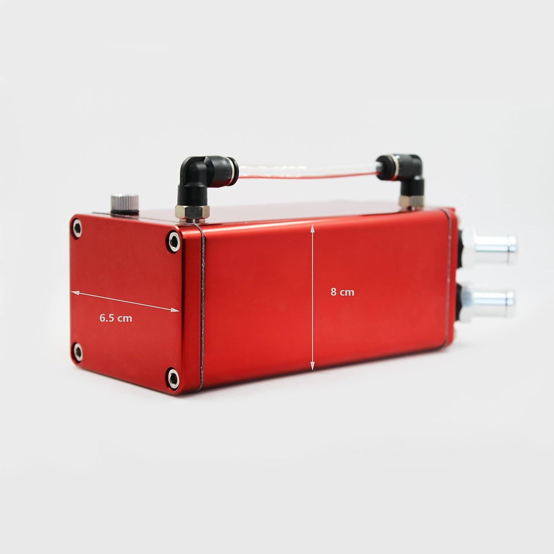 Color Rojo Captura de Aceite de Motor MODAUTO Dep/ósito Aceite de Coche Decantador de Aceite Redondo Aluminio Pulido Modelo E080RD