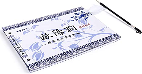 Calligraphy Set Chinese Calligraphy Paper Book Handwriting Practice Tracing Copy Traditional Calligraphy Practice Paper Water Writing Copybook Brush Water Dish Set