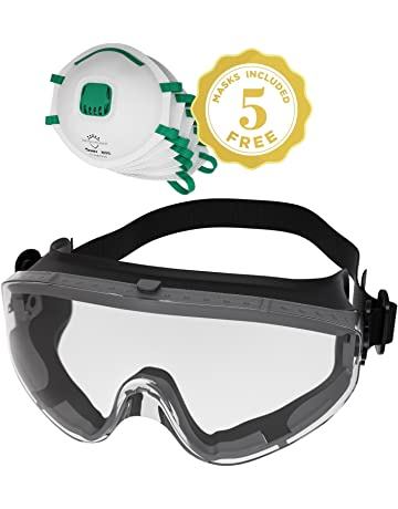 2c382d18baec Safety Goggles Fits Over Prescription Glasses Clear Anti Fog Anti Scratch  Impact Splash Proof For