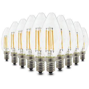 Mininono 4W E14 Edison Bombillas LED Filamento LED Vela del LED 400LM Bombilla Retro Vintage LED