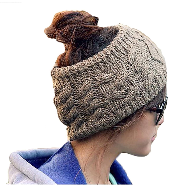 Hengsong Damen Stirnband Keine Top twist stirnband sport Wollwintermütze Ski Hut Stirnband haarband