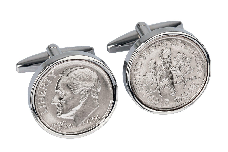 79th Birthday Coin Cufflinks | 1939 US Dime Cufflink set | Gift for Men Handmade Personal