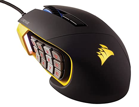 41719558c7e Image Unavailable. Image not available for. Color: CORSAIR SCIMITAR Pro RGB  - MMO Gaming Mouse - 16,000 DPI Optical ...