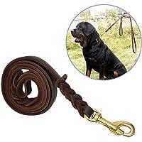 Correa Para Perros, Focuspet 1.8 m piel ajustable perros Animales Pet Doble Cuerda Leash Rope perro Dog pecho transpirable Cómodo Durevole Arnés para grande/medio/pequeño