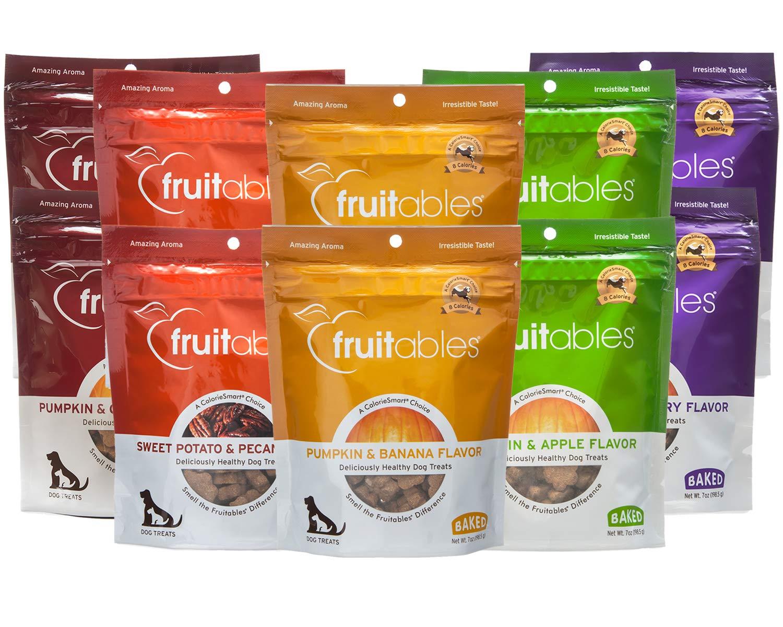 Fruitables Pumpkin Dog Treats, Variety Pack of 10