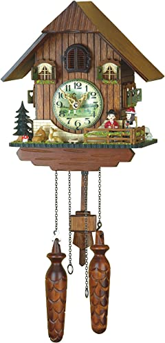 German Cuckoo Clock Quartz-movement Chalet-Style 10.00 inch – Authentic black forest cuckoo clock by Trenkle Uhren