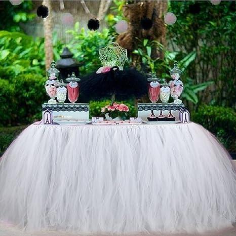 Aytai TUTU Table Skirt Tulle Tableware 100 X 80CM Wonderland Skirting Romantic For Wedding Christmas Party